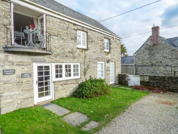 SLATE COTTAGE, romantic, open plan, balcony, near Bodmin, Ref947361, Ferienwohnung in St. Mabyn