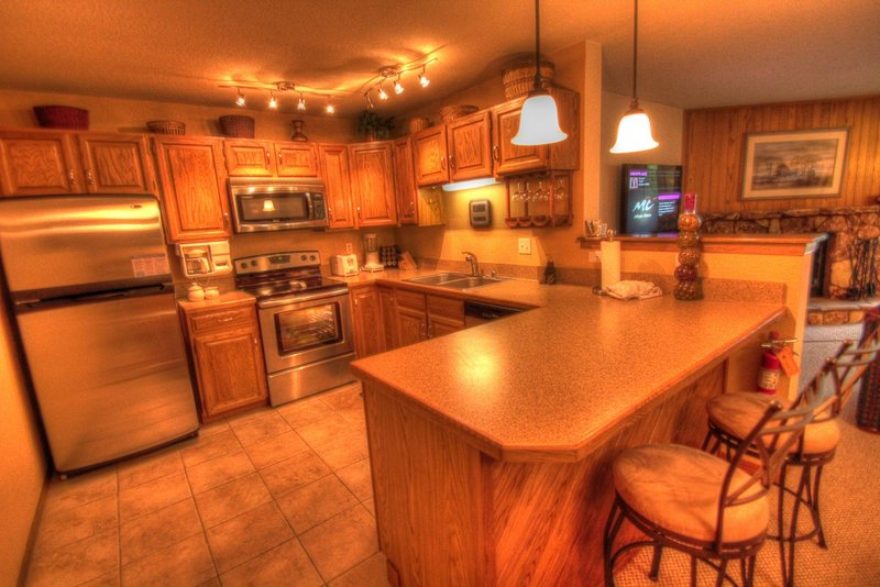 SkyRun Property - '204 Snowdance Manor' - Kitchen - The newly remodeled kitchen is perfect for cooking all of your meals at home.