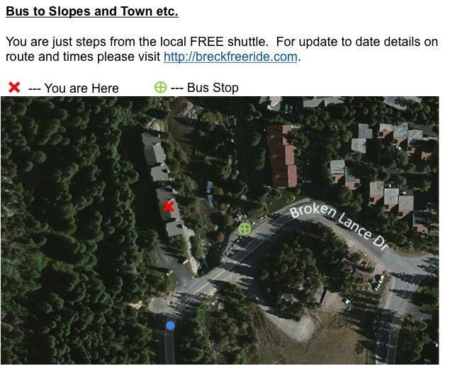 Property is just steps from the free shuttle stop