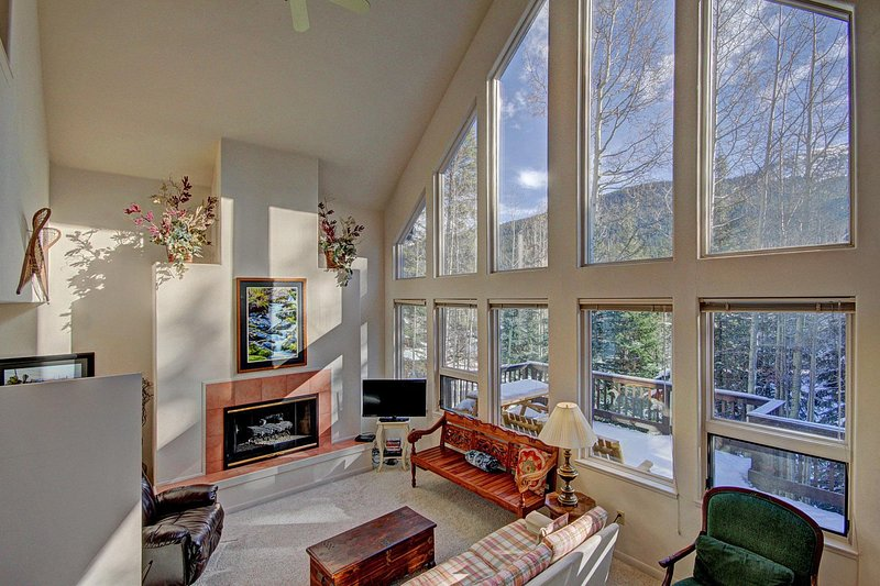 SkyRun Property - 'Aspen House' - Living Room with large picture windows