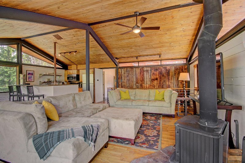 SkyRun Property - 'Elk Horn Cabin' - Living room features plenty of comfortable seating