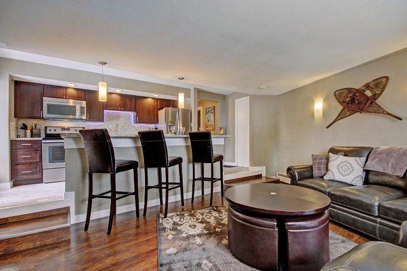 SkyRun Property - 'Peak 8 Village E35' - Kitchen and living room