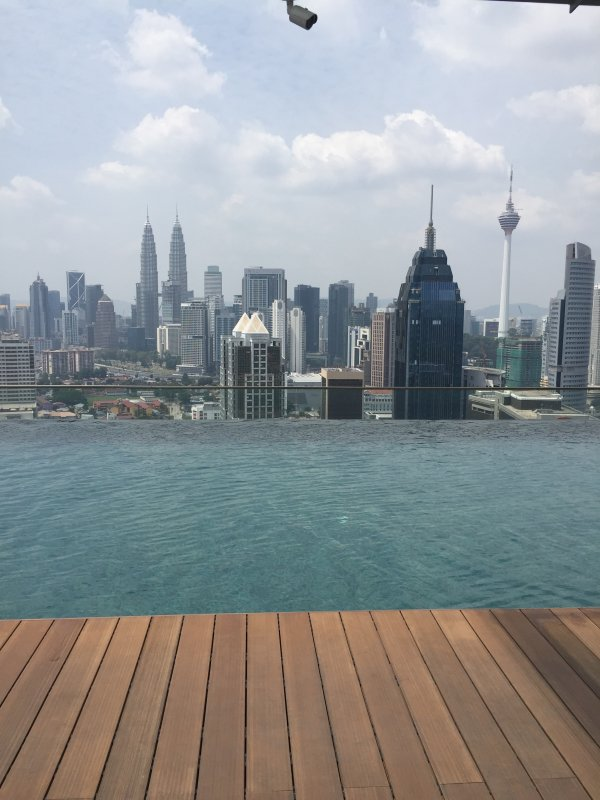 View from pool on the 37th Floor- KL skyline