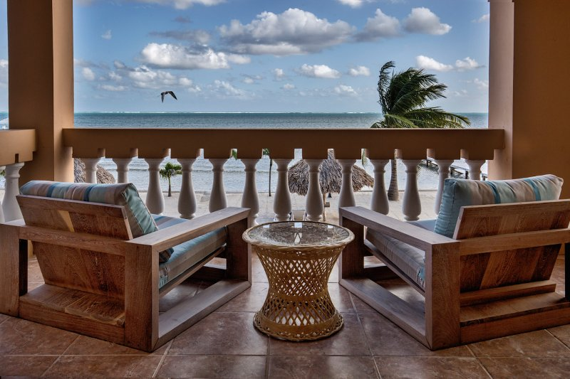 Sit back, relax, and take in the amazing Caribbean views and breezes!
