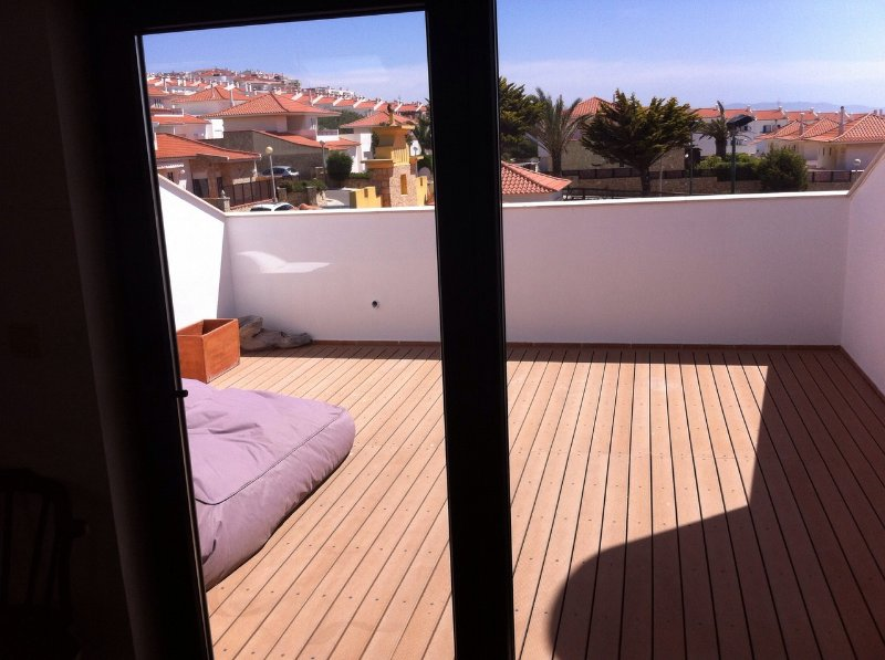 Roof terrace leading from master bedroom