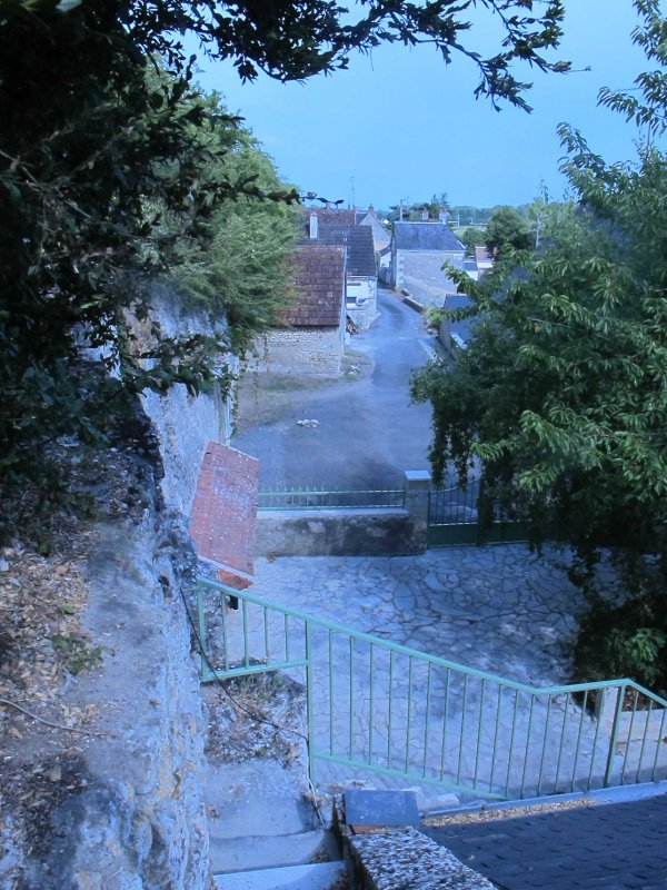 Back street from top level of property