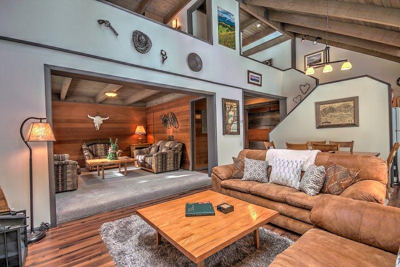 Interior of 3-bedroom Breckenridge vacation rental townhouse