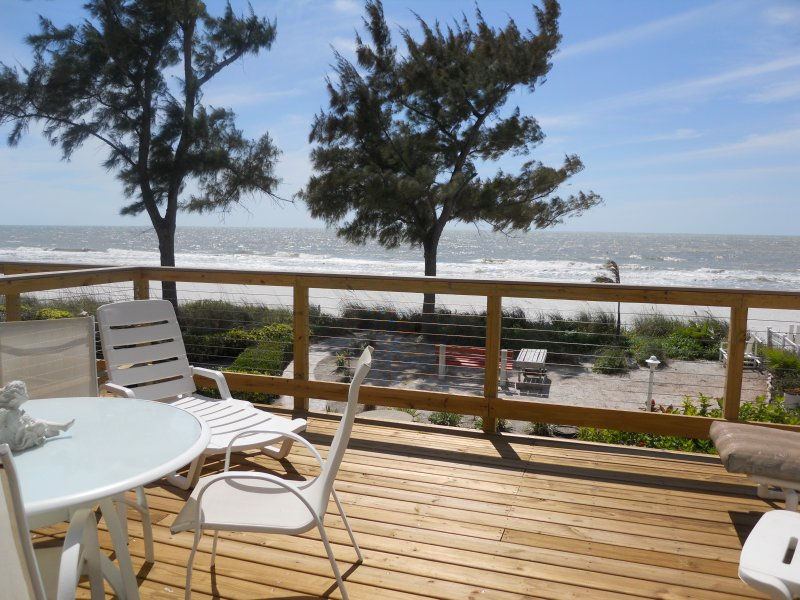 BEACH VIEW FROM  PRIVATE DECK
