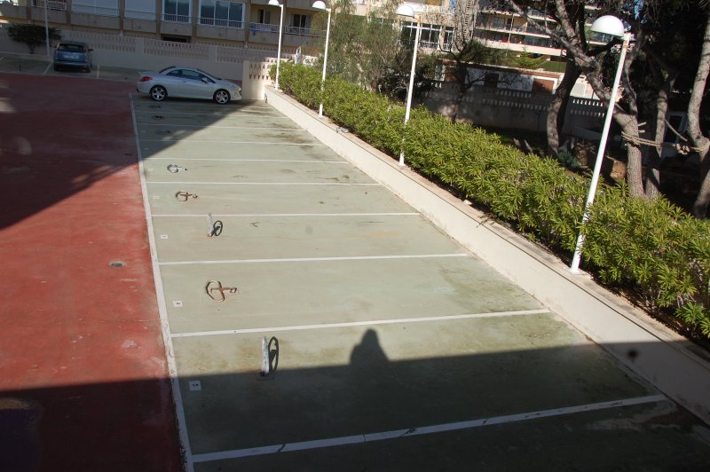 parking space in the building enclosure