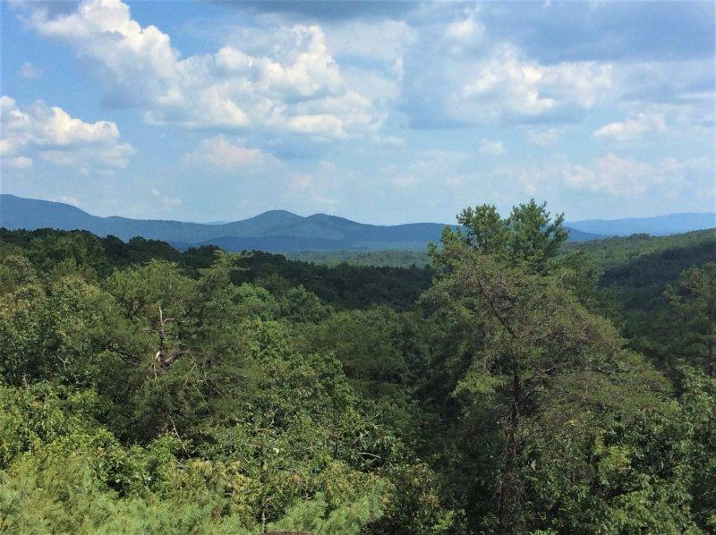 Long Range Blick auf die Berge