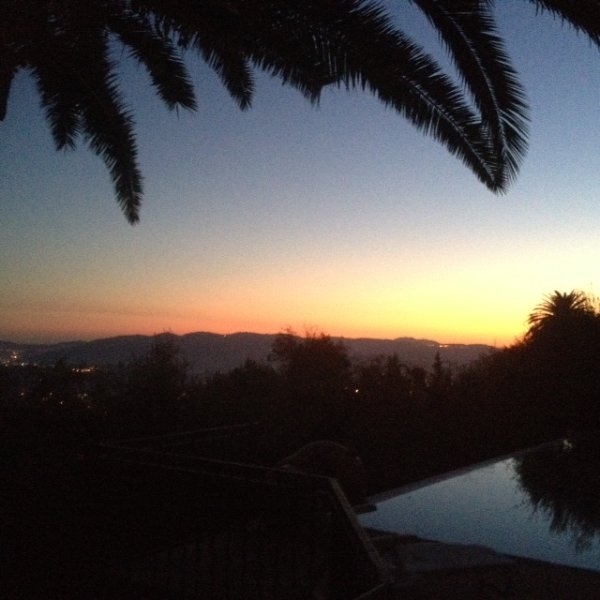 Amazing sunset from the terrace.