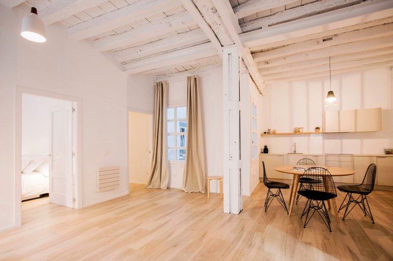 Appartement spacieux avec un design moderne dans un immeuble ancien de la vieille ville de la ville.
