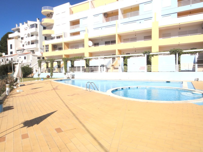 Building and swimming pool peaceful and nice!
