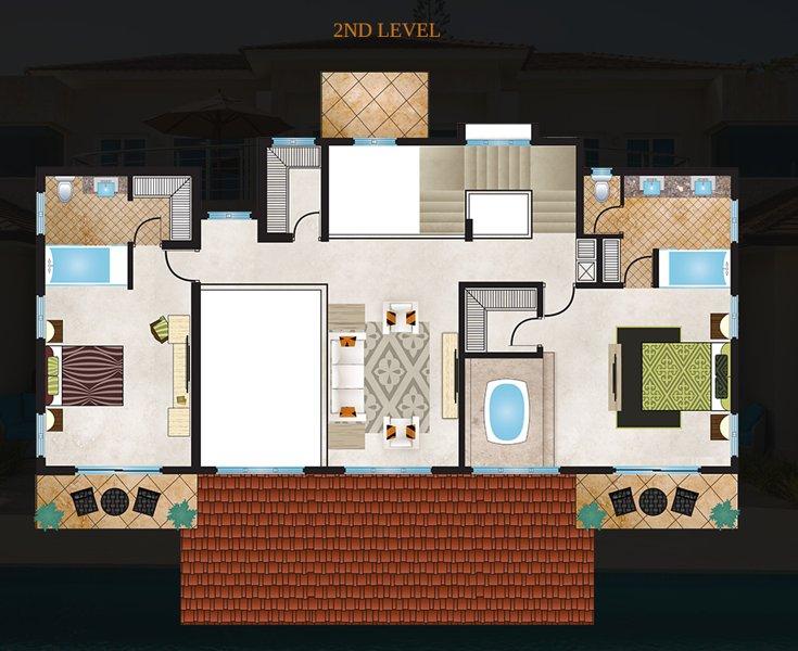 2º Nível de 4 Bedroom Villa