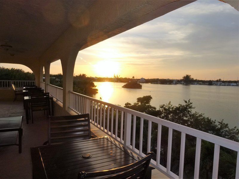 Awesome sunset views from the balcony