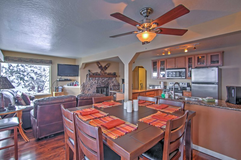 This 4-bedroom, 3-bath Stateline vacation rental townhome is the perfect escape.