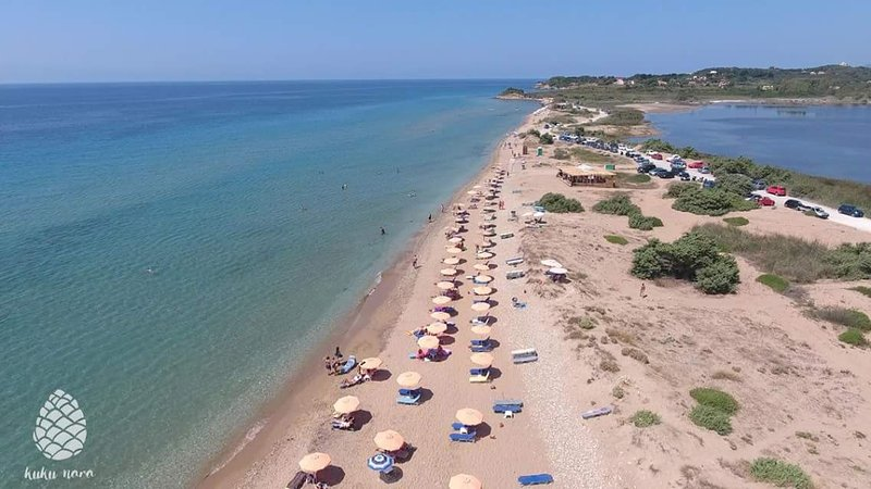 xalikounas beach(about 12 minutes from the house)