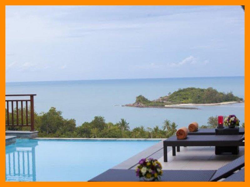 5073 - Walk to beach swim play drink eat sleep walk to villa jump in pool, holiday rental in Choeng Mon