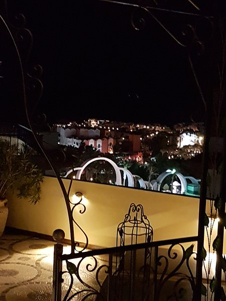 View from the roof terrace in the evening. The rooftop terrace is only for guests of this apartment