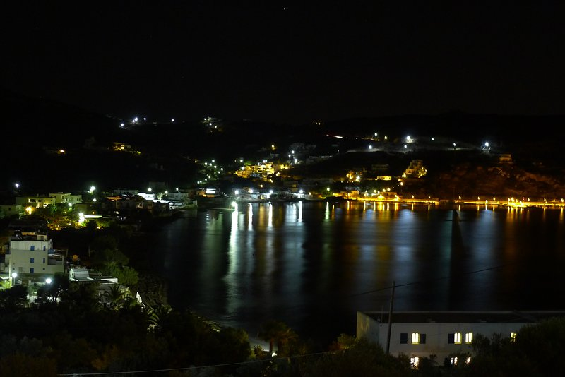 night view of the village of Agios Ioannis