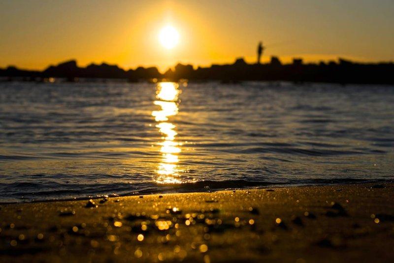 The sunset of Ostia