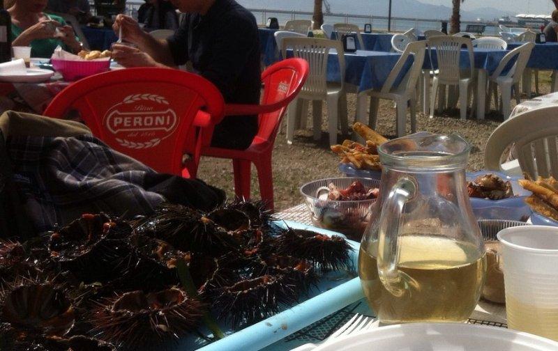 Los erizos de mar refrigerada con Vermentino - Ricci Vermentino congelada