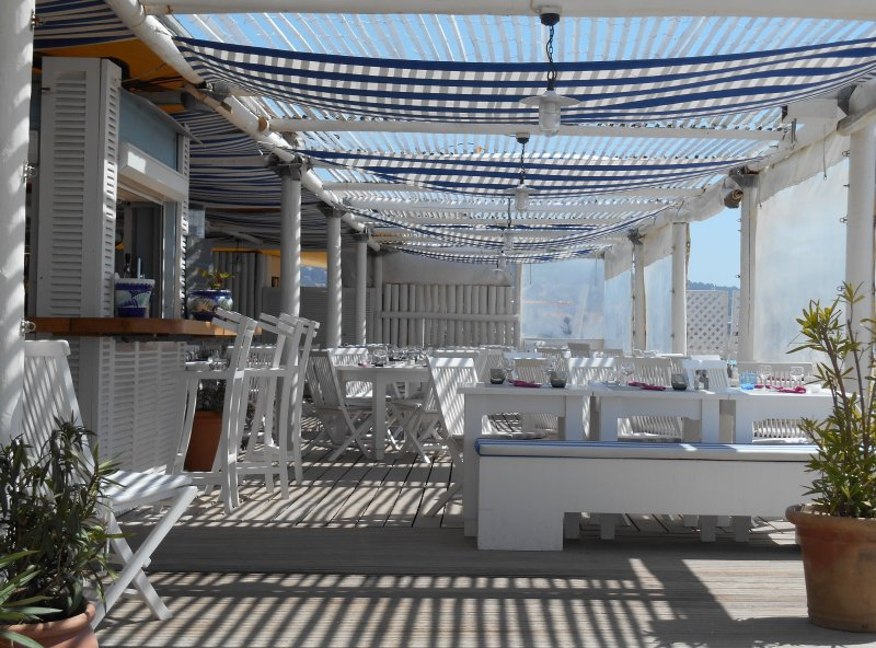 One of the Marseillan Plage Beach Clubs