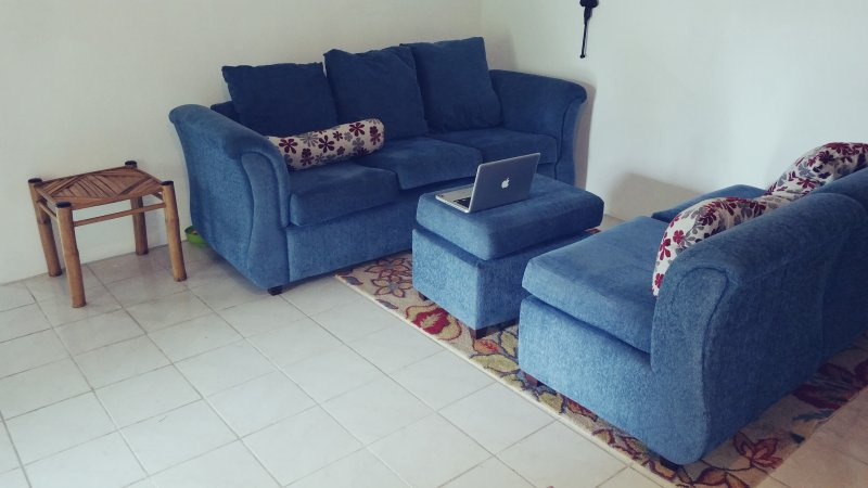 Living room with 47' flat screen TV. Relax and enjoy.