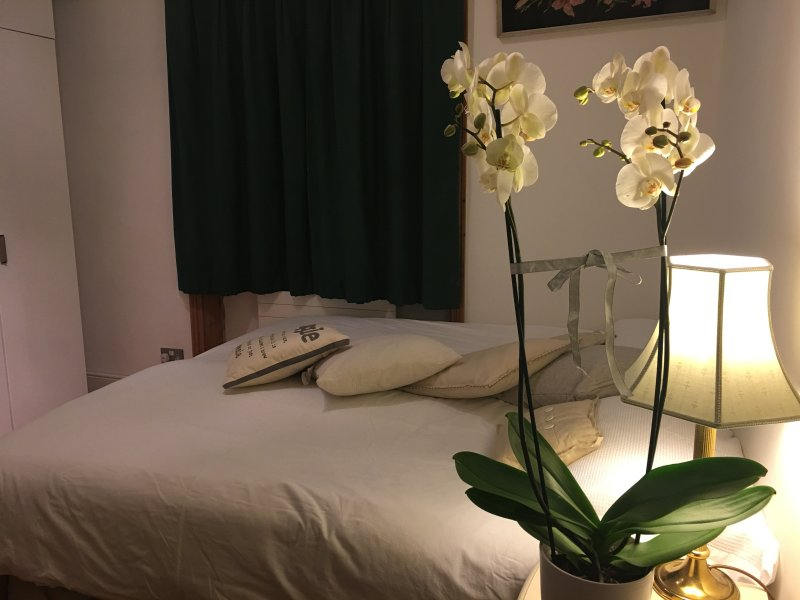 Master bedroom with super King size bed if booked as a couple