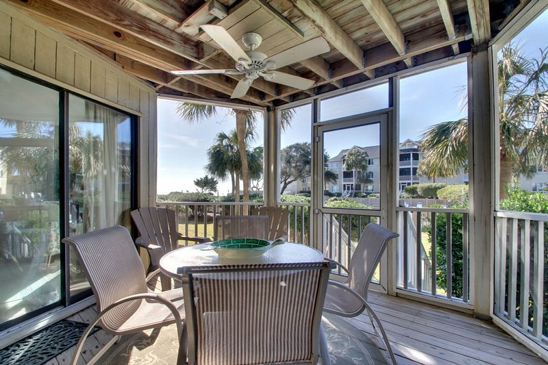 Screen Porch View with Direct Pool/Beach Access!