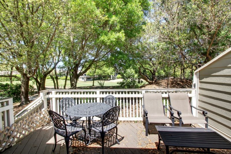 Large Deck Overlooking Golf Course!