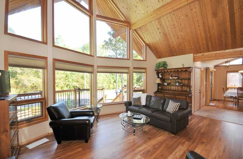 Spacious and bright living room on main level.