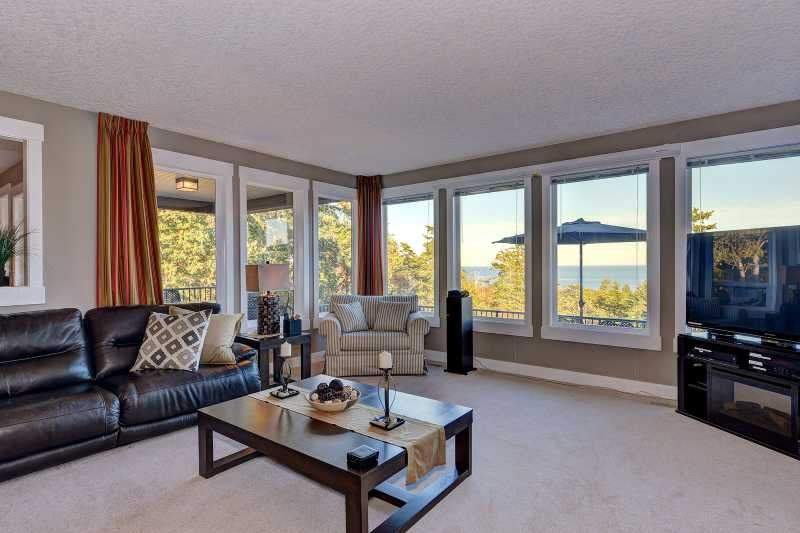 Formal living room with gorgeous views.