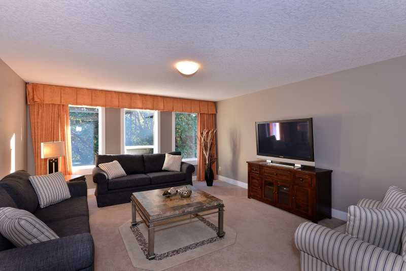 The family room, located off the front foyer.