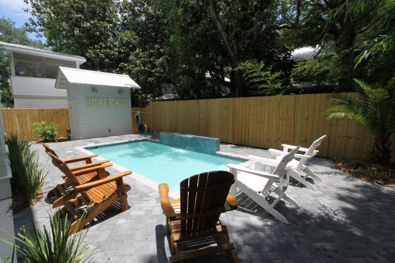 Lovely Pool Surrounded by Privacy Fence