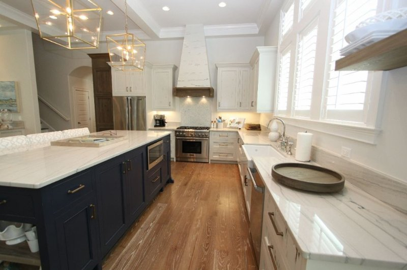 Kitchen has Marble Countertops