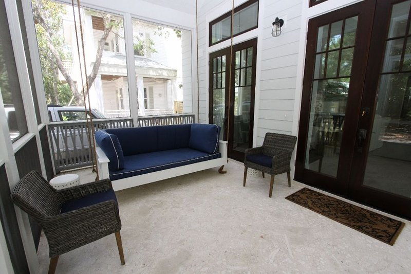 Swinging Bed on Screened Porch