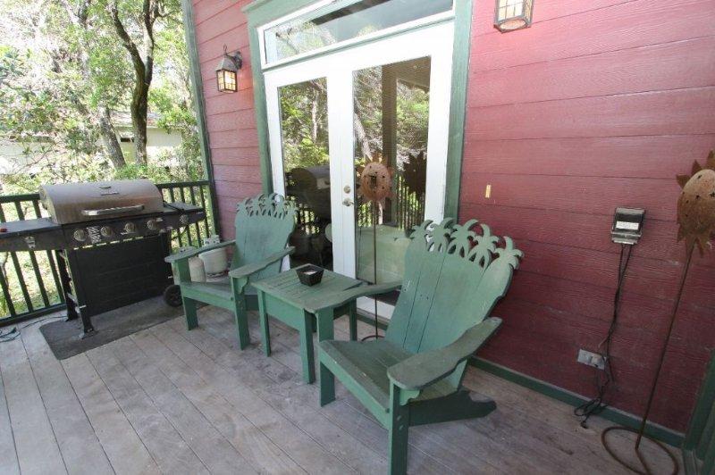 Entry Porch with Comfortable Adirondacks