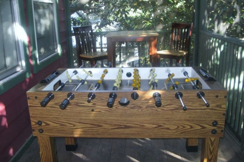 Second Story Screened Porch - Foosball Table
