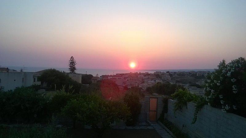 Vista tramonto dalla veranda