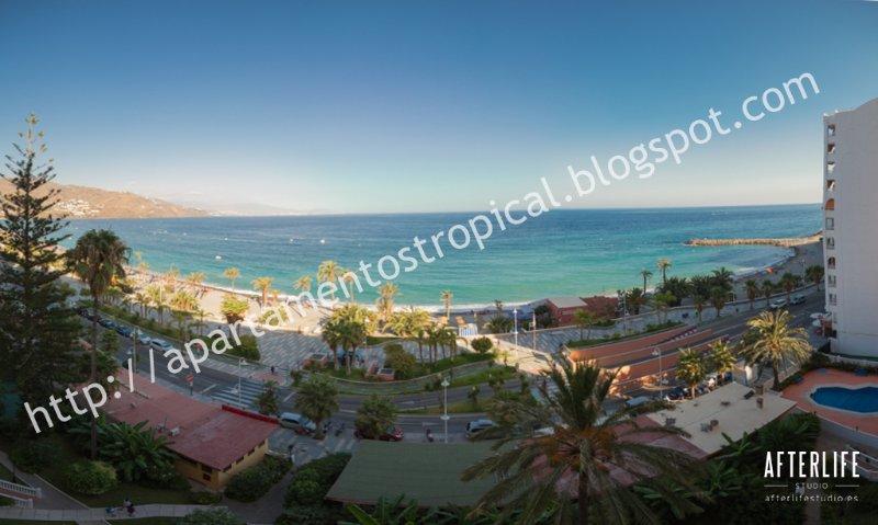 Vista Panorámico desde la terraza del apartamento