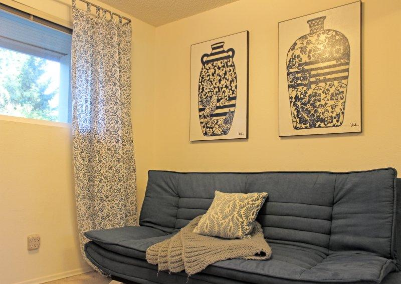 Plus petite chambre à l'étage dispose d'un futon double