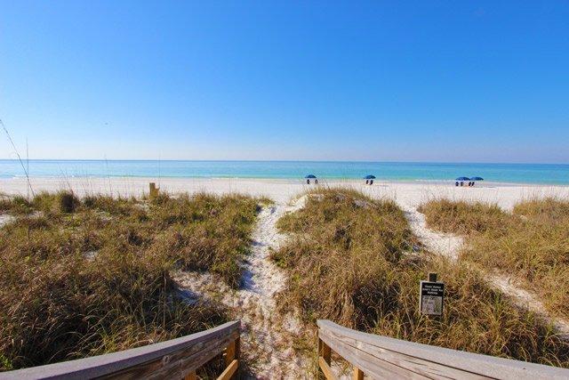 Enjoy breathtaking views from the beach level deck.