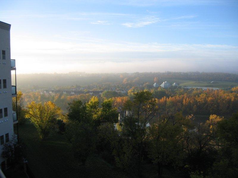 Vista de la mañana desde el balcón