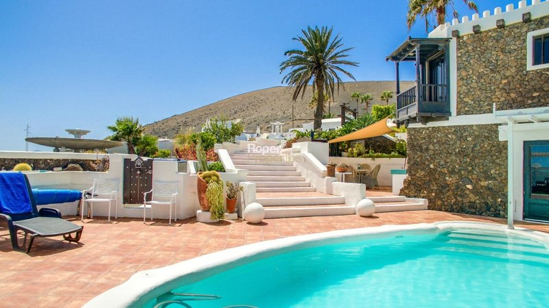 pool area with panoramic balcony views