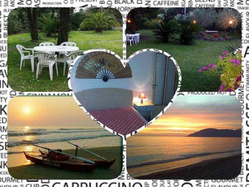 Marina di Massa-Toscana-6 posti letto-giardino-posto auto interno proprietàwifi, holiday rental in Avenza