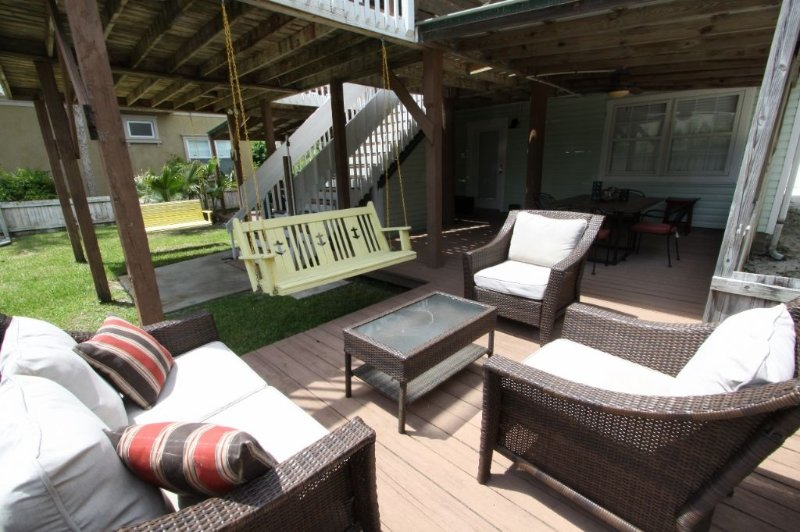 Shared Outdoor Seating Area with Multiple Choices