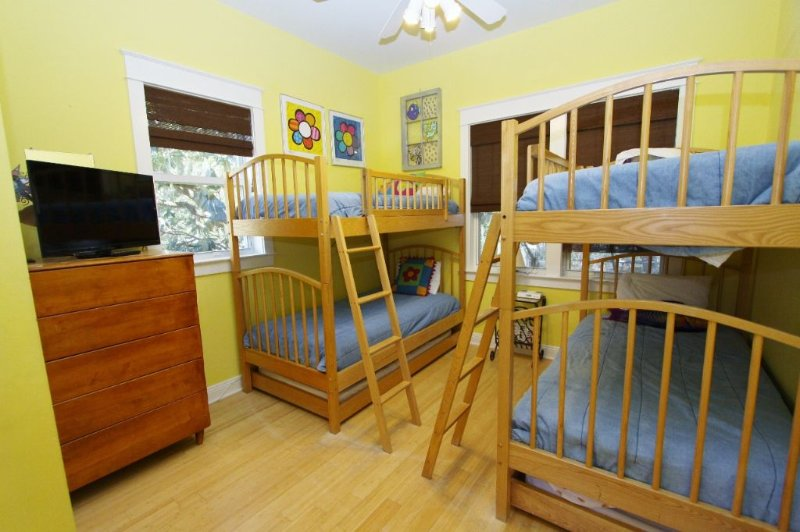 Kid Bunkroom - Two Bunk Beds with Trundles