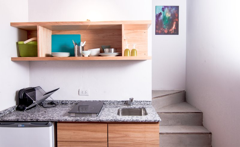 kitchenette of the duplex