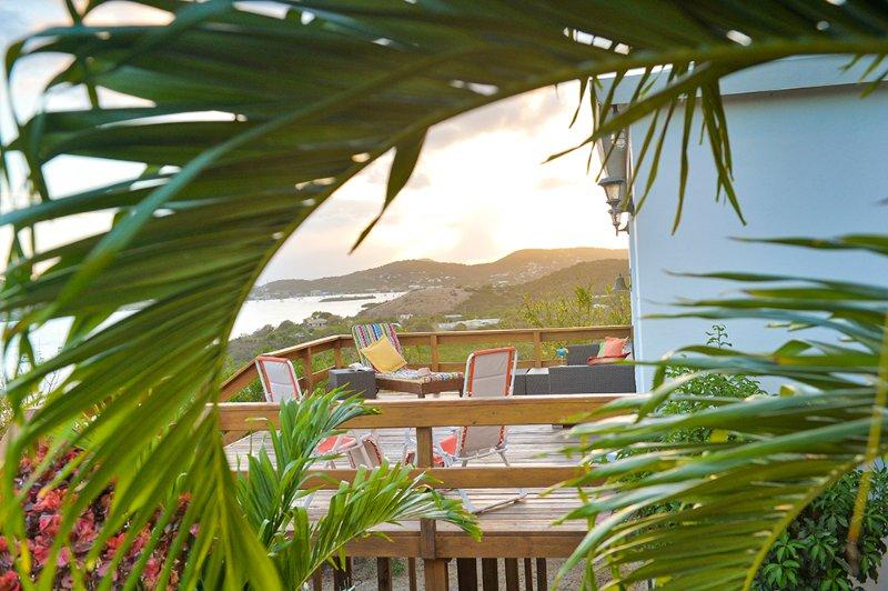 Deck overlooking ocean